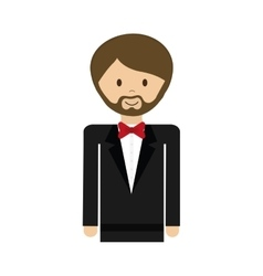 cartoon suit man avatar person icon vector image