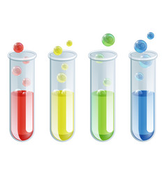 cartoon test tubes vector image