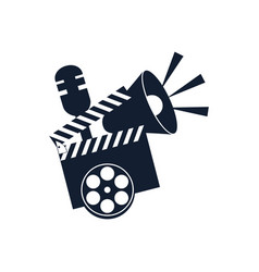 Cinematography tools clapperboard movie clapper vector