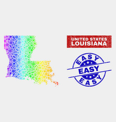 colorful component louisiana state map vector image