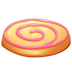 Cookie with pink frosting vector