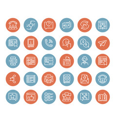 customer service icons vector image