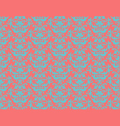 Damask ornament seamless patterns vector