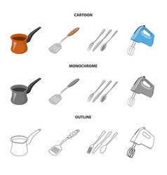 design of kitchen and cook symbol vector image