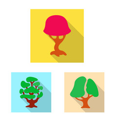 design of tree and nature sign collection vector image