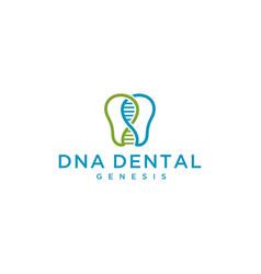 dna dental vector image