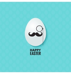 easter hipster egg background vector image