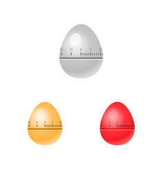 Egg kitchen timers isolated vector