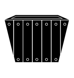 empty flower pot icon vector image