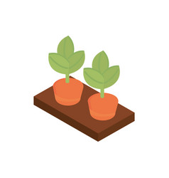 farm planting carrots agriculture isometric icon vector image