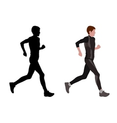 Female marathon runner vector