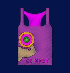 flat shading style icon sports shirt vector image