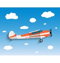 Flight plane in sky vector