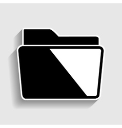 Folder sign Sticker style icon vector image