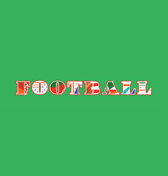 Football concept word art vector