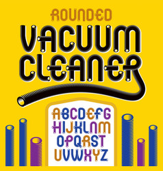 Funky capital rounded alphabet letters abc vector