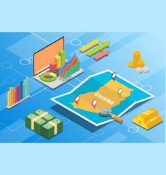 Ghana isometric financial economy condition vector