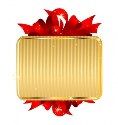 gold tag with bow vector image