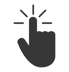 hand pointer icon vector image