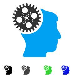 Head gearwheel flat icon vector