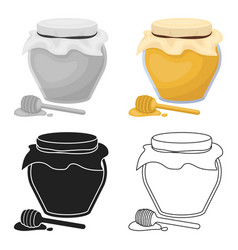 Honey icon in cartoon style isolated on white vector