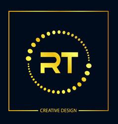 Initial letter rt logo template design vector