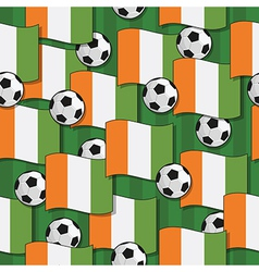 ivory coast football pattern vector image
