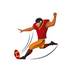 Kicker player of american football sport team vector