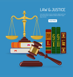 Law and justice concept vector