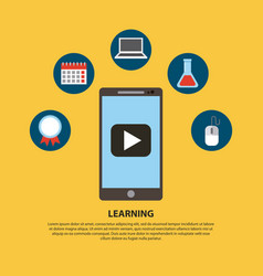 learning online education vector image