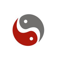 Letter s yin yang vector
