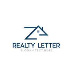 letter z home realty modern abstract logo vector image