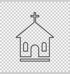 line church sanctuary icon simple flat pictogram vector image