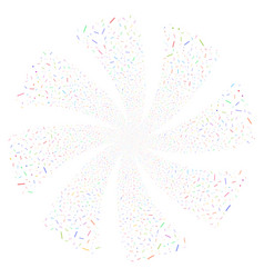 lines and dots fireworks swirl flower vector image vector image