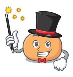 Magician mochi mascot cartoon style vector