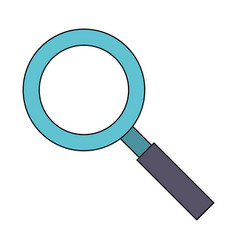 magnifying glass zoom lamp cartoon vector image