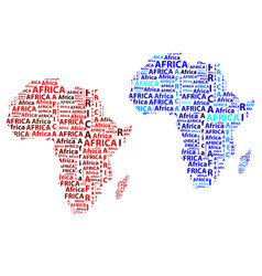 map of continent africa vector image
