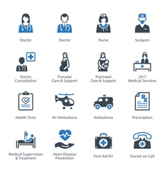Medical and Health Care Icons Set 1 - Services vector