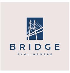 modern bridge logo design vector image