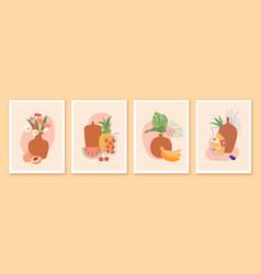 modern minimalist contempporary art summer vector image