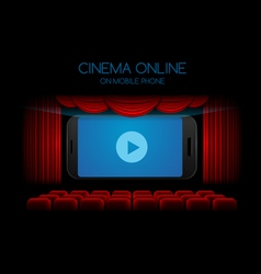 movie cinema on mobile vector image