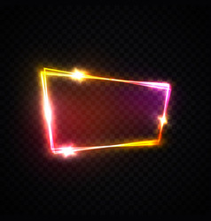 neon pink red purple signage with space for text vector image