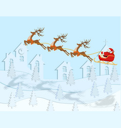 new year christmas a drawing of santa claus vector image