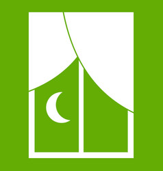 Nightly window icon green vector
