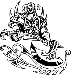 Nordic viking - Vinyl-ready vector image