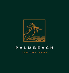 palm beach logo vector image