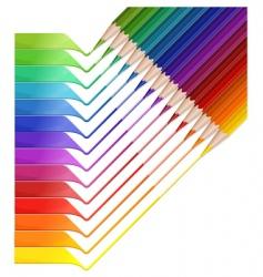Pencil rainbow vector