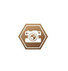 photographe an old style camera logo design in vector image