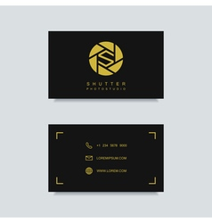 Photography business card template vector