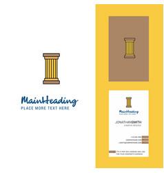 Piller creative logo and business card vertical vector